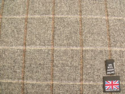 Country Tweed Shadow Windowpane Check Fabric in a Plain Weave AZ96